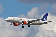 SAS Airbus A320 neo EI-SIE (Adam Fox - Plane and Rail photography) Tags: plane aircraft airliner jet airplane aeroplane sky clouds manchester airport egcc scandinavian air system