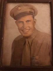 In honor of Robert E. Baker. US First Infantry Division (Big Red One). Landed Omaha Beach, D-Day, 6 June 1944. Duty-Honor-Country. (JLeeFleenor) Tags: oldpictures old iowa desmoines ia wwii omahabeach dday soldier warrior 1944 landing photos photography original