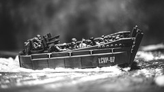 Headed In (3rd-Rate Photography) Tags: dday wwii lcvp higginsboat landingcraft boat toy toyphotography blackandwhite bw callofduty megaconstrux war military canon 50mm 5dmarkiii jacksonville florida 3rdratephotography earlware 365