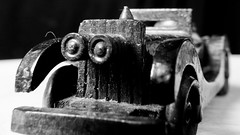 Vintage Toy Car (Andy Sut) Tags: toy plaything childhood andysutton macro closeup vintage wooden car childhoodtoy lumix panasonic