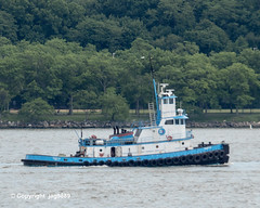 """Ruby M"" Tugboat on the Hudson River, New York City (jag9889) Tags: 1955 2019 20190606 barge boat bridge bridges bruecke brücke crossing dismantling governormalcolmwilsontappanzeebridge hamiltonheights harlem hudsonriver infrastructure k004 manhattan metal ny nyc newyork newyorkcity newyorkthruway outdoor pont ponte puente punt river scrap span structure tappanzee tappanzeebridge transportation tug tugboat usa unitedstates unitedstatesofamerica water waterway workboat jag9889"