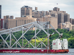 Old Tappan Zee Bridge Superstructure Remains floating down the Hudson River, New York City (jag9889) Tags: nyc newyorkcity bridge house ny newyork detail building 1955 metal architecture hospital boat crossing outdoor manhattan bridges infrastructure hudsonriver brücke barge dismantling medicalcenter bruecke 2019 newyorkthruway newyorkpresbyterianhospital governormalcolmwilsontappanzeebridge k004 milsteinbuilding 20190606 usa water river puente unitedstates unitedstatesofamerica structure ponte transportation pont tugboat tug scrap span waterway washingtonheights punt tappanzee wahi uppermanhattan workboat tappanzeebridge jag9889