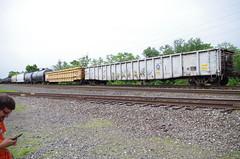 hudson 139 (Fan-T) Tags: hudson conrail gondola mow cr ohio