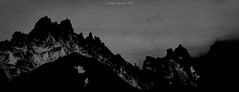 Black Mood (Frédéric Fossard) Tags: monochrome noiretblanc blackandwhite texture art artistic surreal surréaliste montagne mountain cimes crêtes arêtes mountainridge mountainpeak alpes hautesavoie dramatique mood dramatic massifdumontblanc silhouette abstrait abstract paysage landscape mountainscape aiguilledupasson