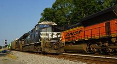 NORFOLK SOUTHERN #290 AT IRONDALE, AL (railfan1967) Tags: norfolksouthern 290 intermodaltrain irondale alabama ge es44ac3619 horsehead