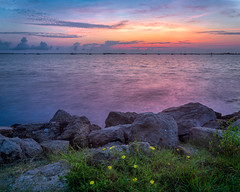 Dawn, down on the river (Ed Rosack) Tags: rock usa landscape calm riverscape water ©edrosack lowlight florida lights longexposure titusville panorama river cloud centralflorida waterscape sky boat sunrise marina dawn flower cloudy explore