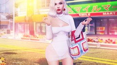 This is what makes us girls.. (Sistine Kristan (Sisely) - Toolbox Chicks) Tags: kustom9 event level ddl rowne knit white bag lipstick shop virtual secondlife sl blog fashion photography mesh catwa maitreya girl