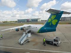 Aer Lingus BAE 146 (James E. Petts) Tags: london airplane aircraft aviation transport jet aeroplane bae146 avrorj