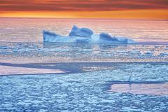 Iceberg Sunset (Valley Imagery) Tags: iceberg canada newfoundland pack ice ocean freezing sunset fogo island water sony a99ii 70400gii slik