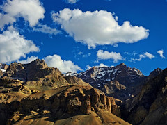 Chiseled face of the mountains !! (Lopamudra !) Tags: lopamudra lopamudrabarman lopa landscape ladakh sapi valley vale sculpture sculptor carve stonecarving carving clouds cloud sky skyscape mountain mountains jk india himalaya himalayas highaltitude highland colour color colours colourful cold wind peak peace peaks artistic art artwork nature beauty beautiful picturesque sunshine sunlight shine shining light lightandshade shadow shade