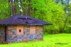Old Cabin (Stephenie DeKouadio) Tags: art artistic artwork abstract abstractart painting abstractpainting colorful