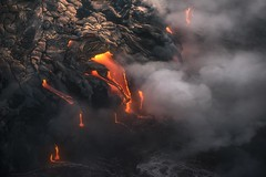 Temporary Highlights (Ryan Dyar) Tags: ryandyar volcano water ocean 51g kalapana hilo hawaii flow oceanentry lava