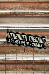 So that's a no? (A Different Perspective) Tags: delft holland netherlands black detail forbidden mural sign text wall white