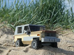 Jeepsand (captain_joe) Tags: toy spielzeug 365toyproject lego minifigure minifig car auto jeep 6wide strangerthings 75810 hasselfelde beach strand kiel chevrolet k5