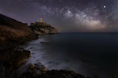 Magic (Anto Camacho) Tags: milkyway landscape mediterraneansea night seascape rocks tower benicassim oropesa castellon spain longexposure