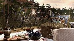 Time to enjoy the outdoors (Alexa Maravilla/Spunknbrains) Tags: secondlife sl secondlfe milkmotion thearcade nutmeg shinyshabby 8f8 happymood virtual 3dmesh photography bikes picnic outdoors vineyards blog blogger mesh gacha home