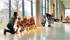 """Une dernière photo avec les """"Jeux d'enfants"""" pour clôturer l'album consacré à cette belle rétrospective Mady Andrien de 1962 à nos jours, Musée de la Boverie, Liège, Belgium (claude lina) Tags: claudelina belgium belgique belgië musée museum laboverie madyandrien sculpture jeuxdenfants"""