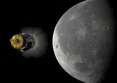 Heracles approaching Moon (europeanspaceagency) Tags: esa europeanspaceagency space universe cosmos spacescience science spacetechnology tech technology heracles lunarrover rover lunar moon lunarsample animation solarsystem robot roboticexploration artistsimpression