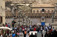 Rom, Largo Ottavio Tassoni, Blick zu Ponte und Castel Sant'Angelo (HEN-Magonza) Tags: rom roma rome italien italy italia largoottaviotassoni engelsbrücke pontesantangelo castelsantangelo engelsburg rioneponte