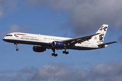 G-BMRE Heathrow 11-10-1998 (Plane Buddy) Tags: gbmre boeing 757 ba britishairways worldimages lhr heathrow