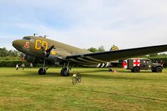 N47SJ / 43-48608 Old Warden 02/06/19 (Andy Vass Aviation) Tags: dc3 usairforce oldwarden n47sj 4348608 betsysbiscuitbomber daksovernormandy