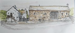 Granary Cottage and The Spinnery, Troutbeck, Cumbria (Blue York) Tags: allantadams drawing urbansketch urbansketcher lakedistrict sketch troutbeck illustration penartist pendrawing pen watercolour lineandwash