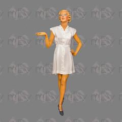 1930s 1940s Tennis Sports Dress with Art Deco Detailing (Rickenbackerglory.) Tags: vintage 1930s 1940s siegel mannequin tennis sportsdress artdeco
