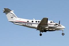 G-FLYW FLYWALES BEECH 200 SUPER KING AIR (Roger Lockwood) Tags: gflyw flywales beechsuperking manchesterairport man egcc
