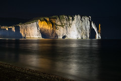Night cliff (alain01789) Tags: cliff falaise night nuit landscape paysage sea mer channel manche etretat normandy