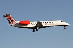 G-SAJB LOGANAIR EMBRAER ERJ-135ER (Roger Lockwood) Tags: gsajb loganair embraer manchesterairport man egcc