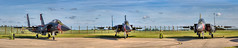 3 DDay F15 Eagles together, Heritage trio (Nigel Blake, 18.5 MILLION views! Many thanks!) Tags: raflakenheath f15e f15c heritage dday photostitched panoramic