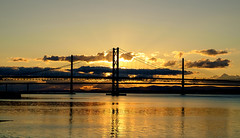 Bridges at Sunset , South Queensferry (wwshack) Tags: kinrosscameraclub lothian riverforth scotland southqueensferry