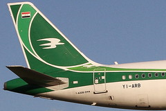 YI-ARB IRAQI AIRWAYS AIRBUS A320-214 (Roger Lockwood) Tags: yiarb iraqiairways airbusa320 manchesterairport man egcc