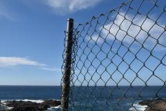 end of fence (Hayashina) Tags: tenerife mesadelmar spain fence end sea blue hff sundaylights