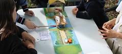 Des jeux sont proposés aux enfants par la ludothèque de Bassens : au programme, Cache Moutons ou la Guerre des Moutons, évidemment