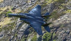 F-15E Strike Eagle Flying Low Level in Wales (JetPhotos.co.uk) Tags: bobsharples wwwjetphotoscouk machloop corris corner wales snowdonia raf lowflying area7 lfa7 aircraft aviation lakenheath strikeeagle f15 f15e 48thfw fighterwing eagles fighter jet multirole 91605