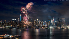 Fireworks (20190606-DSC05326) (Michael.Lee.Pics.NYC) Tags: newyork fireworks hudsonriver weehawken hamiltonpark night longexposure architecture cityscape timessquare centralpark sony a7rm2 fe24105mmf4g