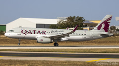 Malta International Airport (Redeemer_Saliba) Tags: qatar airways airbus a320232wl a7ahu takeoff lmml luqa airport rwy 13