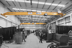 A Pair of 10 tonne Single Girder Overhead Cranes