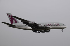 Qatar Airways A388, A7-API, LHR (LLBG Spotter) Tags: a7api aircraft a380 egll qatarairways lhr airline