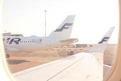 F for Finnair (valentin hintikka) Tags: ohlxi finnair airbus embraer wing winglet efhk hel helsinkivantaa airport backlight highkey heatwave nikkorsauto35mmf28 preai gate25 t2