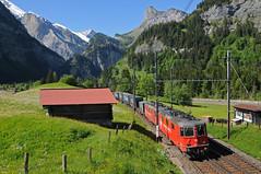 436112 & 436115 - Kandersteg (CH) 07/06/14 (James Welham) Tags: 436112 436115 crossrail kandersteg switzerland re 44 novara boschetto piacenza zeebrugge ukv lötschberg lötschbergbahn
