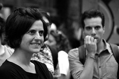 Feelings (Roi.C) Tags: monochrome black white bw people women outside outdoor candid ligh portrait italy napoli europe nikon d5300 nikkor september 2018 photography photo digital shot street city humans persons picture town urban image camera interesting 18140mm man youngwoman humanbeings