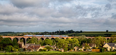 Patchy sunlight (Peter Leigh50) Tags: harringworth seaton viaduct welland valley village church sky landscape landschaft railway railroad rail rural rutland northamptonshire east midland trains train trees track sunshine