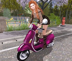 Village Tour (Rose Sternberg) Tags: liz shape for genus bento project baby face head maitreya lara body second life event june 2019 hair cest la vie sinae dress mosquitos way darcy boots the final winter wetcat scoot aroung singles poses moto motorcycle