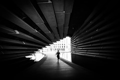 V&A Dundee (bitrot) Tags: architecture bw blackandwhite building dundee museum runner running scotland va vadundee lightroom lightroom8 canoneos5dmarkiii ef1740mmf4lusm 17mm f80 130sec iso125