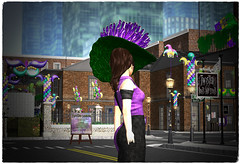 Spending some time at Twisted Summer Jackson Square Event (:.C!L.: Boutique) Tags: purple twisted summer second life event slink belleza maitreya fitmesh mesh women fashion sl ebody secondlife rfl black denim orleans new parade mask hat costume carnival gras mardi charity destination dj hunt gacha