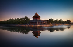 Forbidden city & Reflection (Luís Henrique Boucault) Tags: ancient architecture asia asian beautiful beijing blue building china chinese city cloud corner culture dawn day dusk east famous forbidden historic history imperial lake landmark landscape moat morning old palace park peking red reflection river scene scenery sky skyline structure style sunset tourism tourist tower traditional travel view wall water