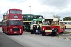 DSCF7070 (Steve Guess) Tags: globe arena morecambe afc lancashire england gb uk bus rally jtb749 aec regal cumbria classic coaches southport leyland tiger open top topless topper ribble titan burlingham