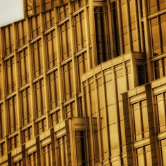 City of Gold (2n2907) Tags: abstract architecture photo glass windows building skyscraper graphic geometric geometry pattern lines graphical yellow gold olympus omd mirrorless
